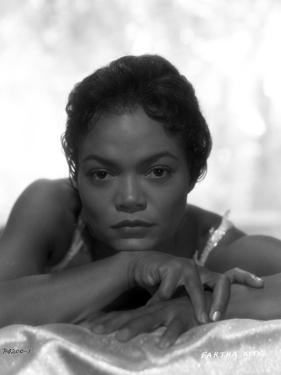 Eartha Kitt Portrait in Black and White by Movie Star News
