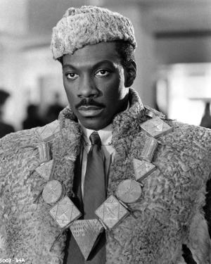 Eddie Murphy in Fur Coat POrtrait by Movie Star News