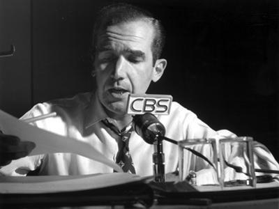 Edward Murrow in White With Black Background by Movie Star News