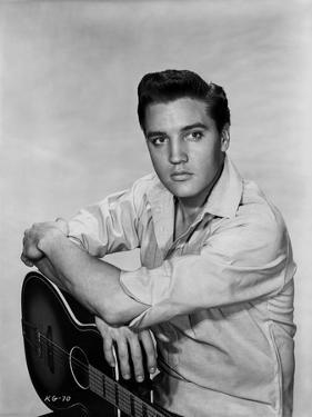 Elvis Presley Portrait in Long Sleeve Polo and Classic by Movie Star News