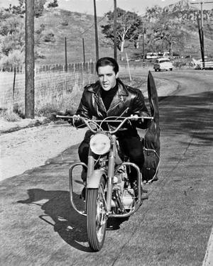 Elvis Presley Riding in Classic by Movie Star News