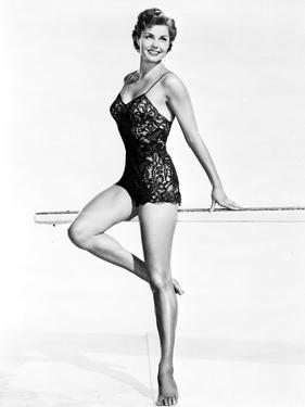 Esther Williams smiling in Black Lingerie by Movie Star News
