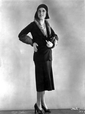Fay Wray Posed in Black Two Piece Dress by Movie Star News