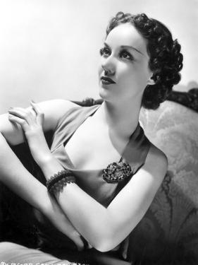 Fay Wray Posed with Hands Crossed and Old Fashioned Hairdo by Movie Star News