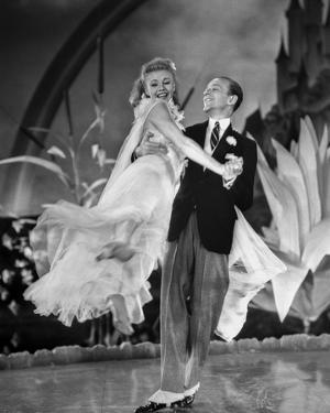 Fred Astaire and Ginger Rogers Dancing in Formal Attire by Movie Star News