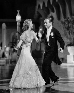 Fred Astaire and Ginger Rogers smiling, Dancing and Performing by Movie Star News