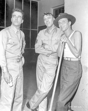 From Here To Eternity Three Men in Khaki Suit Looking at Something by Movie Star News