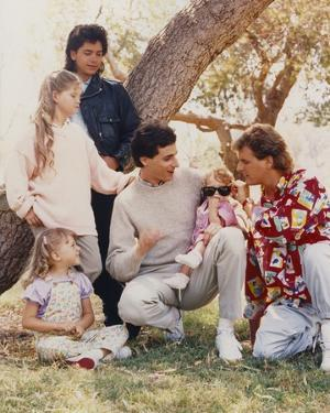 Full House Cast Portrait by Movie Star News