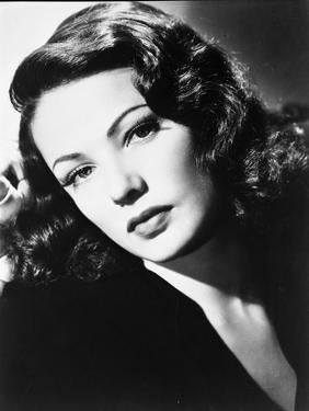 Gene Tierney Posed in Black Dress with a Straight Face by Movie Star News