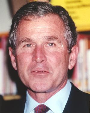 George Bush in Suit Close Up Portrait by Movie Star News