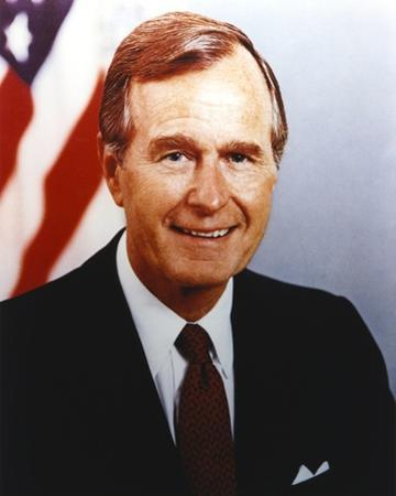 George Bush smiling in Tuxedo Close Up Portrait by Movie Star News