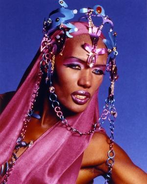 Grace Jones Pose in Blue Portrait by Movie Star News