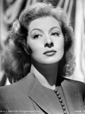 Greer Garson on a Blazer Black and White Portrait by Movie Star News