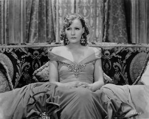 Greta Garbo in Gown and sitting Portrait by Movie Star News