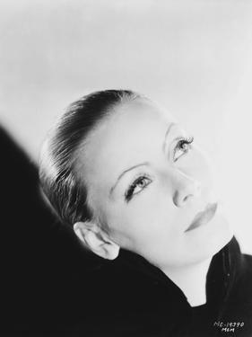 Greta Garbo Straight Hair Close Up Portrait by Movie Star News