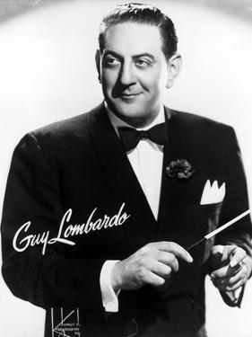 Guy Lombardo in Black With White Background by Movie Star News