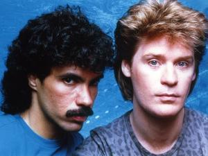 Hall & Oates in Blue Background Close Up Portrait by Movie Star News