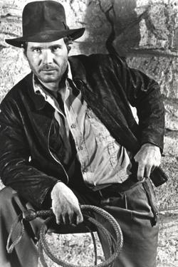 Harrison Ford in a Cowboy's Attire with Whip by Movie Star News