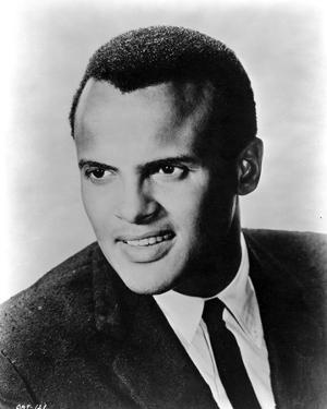 Harry Belafonte in Black Suite With Black and White by Movie Star News