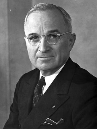 Harry Truman Close Up Portrait in Classic by Movie Star News