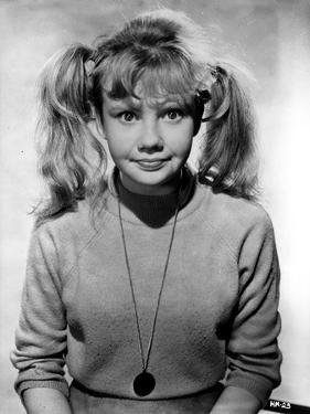 Hayley Mills wearing a Turtle Neck Long Sleeve Sweater with Necklace by Movie Star News