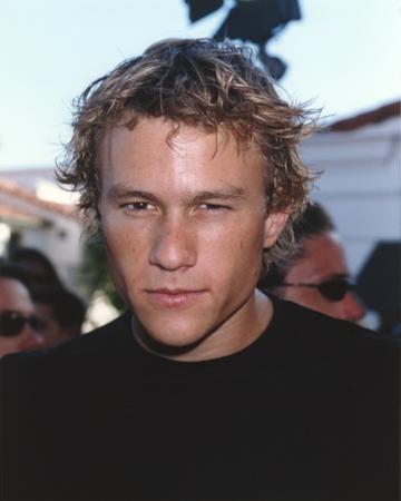Heath Ledger wearing a Black Shirt by Movie Star News