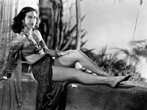 Hedy Lamarr Lying in Midriff with Necklace by Movie Star News