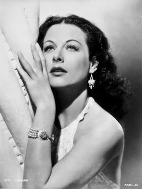 Hedy Lamarr wearing a Halter Blouse with earrings and Necklace by Movie Star News