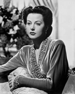 Hedy Lamarr wearing a Silk Wardrobe by Movie Star News