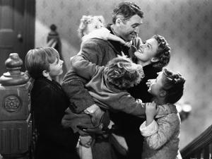 It's A Wonderful Life Hugged by Family by Movie Star News