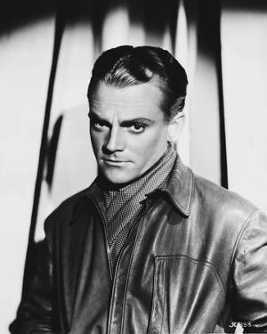 James Cagney wearing Leather Jacket Classic Portrait by Movie Star News