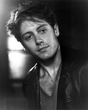 James Spader in Black Leather Jacket With Black and White Background by Movie Star News