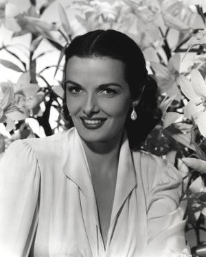 Jane Russell Close Up Black and White Portrait by Movie Star News