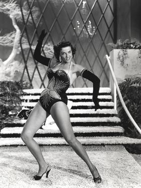 Jane Russell Posed in Lingerie Black and White by Movie Star News