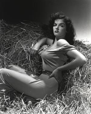Jane Russell Posed on Horse House Portrait by Movie Star News