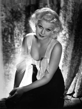 Jean Harlow Portrait in Strap Dress by Movie Star News