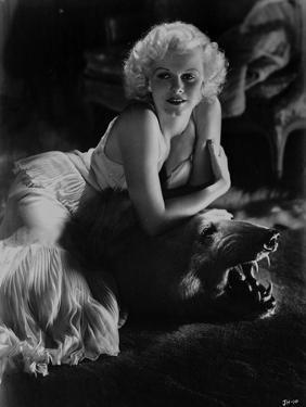 Jean Harlow Posed in White Dress by Movie Star News