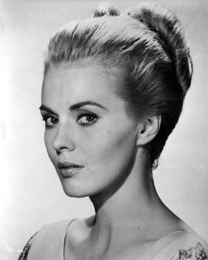 Jean Seberg Portrait in V-Neck Long Sleeve Dress with Back Knot Hair by Movie Star News