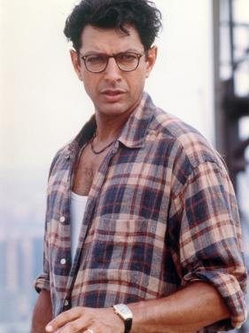 Jeff Goldblum Posed in Brown Checkered Polo and Wrist Watch on the Left Hand by Movie Star News