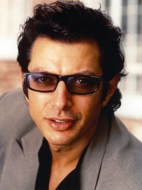 Jeff Goldblum Posed in Grey Linen Suit by Movie Star News