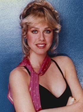 Jenilee Harrison Posed in Red Printed Handkerchief by Movie Star News