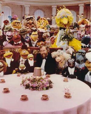 Jim Henson Dining with Sesame Street Cast by Movie Star News