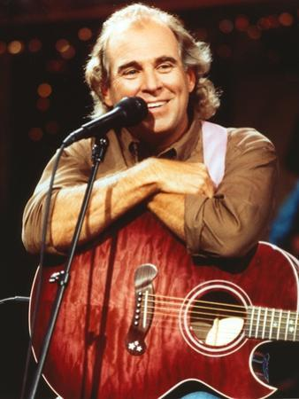 Jimmy Buffett Portrait in Brown Sleeves by Movie Star News