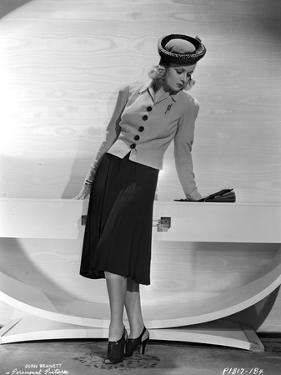 Joan Bennett on a Blazer Leaning Portrait by Movie Star News