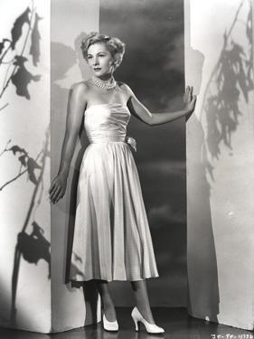 Joan Fontaine in Dress Leaning by Movie Star News