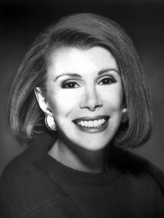 Joan Rivers Showing a Big Smile with Earrings in a Classic Portrait by Movie Star News