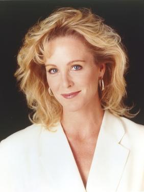 Joanna Kerns wearing a White Coat Dress in a Close Up Portrait by Movie Star News