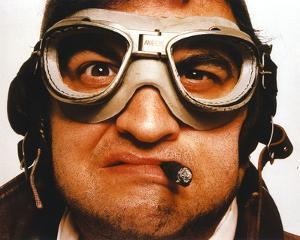 John Belushi wearing Goggles Close Up Portrait by Movie Star News