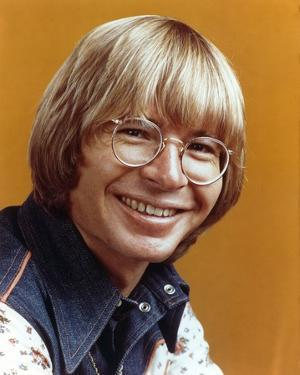 John Denver Orange Background Close Up Portrait by Movie Star News