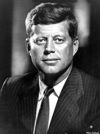 John Kennedy Posed in Black Suit by Movie Star News
